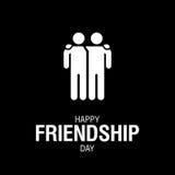 Texte heureux de jour d'amitié pour la carte de voeux d'amis illustration de vecteur