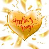 Texte heureux de jour du ` s de mère Images stock