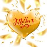 Texte heureux de jour du ` s de mère Photographie stock libre de droits