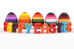 Texte heureux de Pâques 3d Images stock