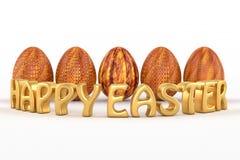 Texte heureux de Pâques 3d Image stock
