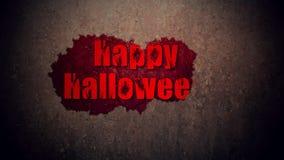 Texte heureux de sang de Halloween illustration libre de droits