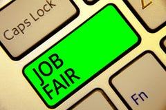 Texte Job Fair d'écriture de Word Concept d'affaires pour un événement où une personne peut faire acte de candidature pour un tra illustration de vecteur