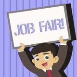 Texte Job Fair d'?criture de Word Concept d'affaires pour l'?v?nement dans quels recruteurs d'employeurs fournissent l'informatio illustration libre de droits