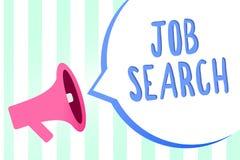Texte Job Search d'écriture Concept signifiant un acte de personne pour trouver le travail adapté à ses rayures de haut-parleur d illustration libre de droits