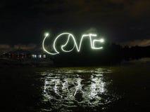 Texte léger de peinture d'amour Photos libres de droits