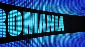 Texte latéral de la ROUMANIE mettant en rouleau le panneau de signe de panneau d'affichage de mur de LED banque de vidéos