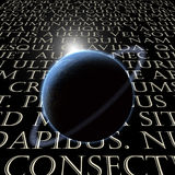 Texte latin avec la planète illustration stock