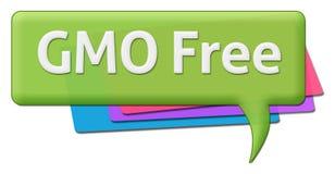 Texte libre de GMO avec des symboles colorés de commentaire Photographie stock