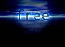 Texte libre sur l'horizon éloigné bleu lumineux illustration de vecteur