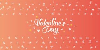 Texte manuscrit heureux de jour de valentines Images stock