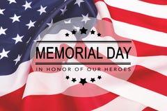 Texte Memorial Day sur le fond de drapeau am?ricain illustration libre de droits