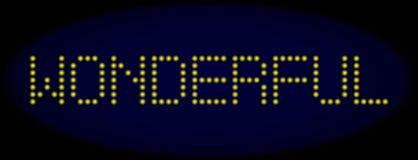 Texte mené MERVEILLEUX de style avec les points rougeoyants illustration de vecteur