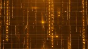 Texte numérique de données matricielles banque de vidéos