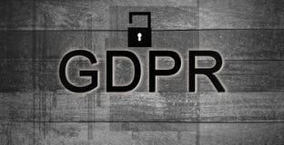 Texte orange, règlement de général protection des données de GDPR sur le surfac photo libre de droits