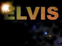 Texte pointillé de signe d'Elvis de lumières Photos stock