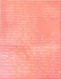 Texte romantique Photographie stock