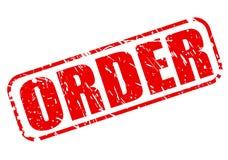 Texte rouge de timbre d'ordre Image libre de droits