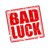 Texte rouge de timbre de mauvaise chance illustration libre de droits