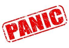 Texte rouge de timbre de panique Photos libres de droits