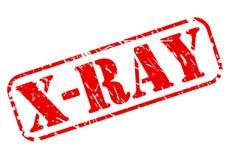 Texte rouge de timbre de rayon X Photo stock
