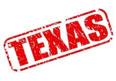 Texte rouge de timbre du Texas Photo stock