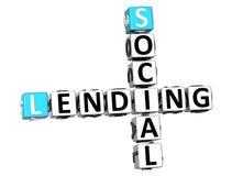 texte social de mots croisé du prêt 3D Image libre de droits