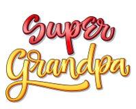 Texte superbe de famille - calligraphie superbe de couleur de grand-papa illustration libre de droits