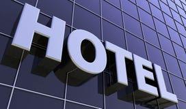 Texte sur l'hôtel en verre image libre de droits