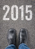 Texte sur le plancher 2015 Image libre de droits