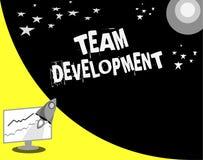 Texte Team Development d'écriture de Word Le concept d'affaires pour apprennent pourquoi et comment les petits groupes changent a illustration stock
