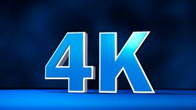 texte tridimensionnel de résolution de 4K UHD illustration de vecteur