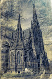 Texted Gothic Cathedral Royalty Free Stock Photo