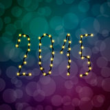 Texten av de 2015 julljusen Arkivbild