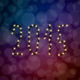 Texten av de 2015 julljusen Arkivfoton