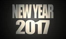 Texter 2017 för ` för nytt år för ` Royaltyfria Foton
