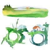 Textes d'éclaboussure d'aquarelle Image stock