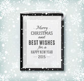 Textetikett för glad jul och för lyckligt nytt år på a Royaltyfria Foton