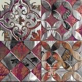 Textfliesenentwurfs-Nahaufnahmehintergrund der Weinlese künstlerischer stockbild