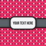 Texthintergrund mit buntem pixelated Muster Lizenzfreies Stockfoto