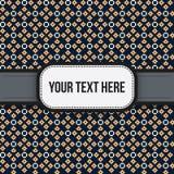 Texthintergrund mit buntem pixelated Muster Stockfotografie