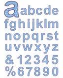 Textiel alfabet Royalty-vrije Stock Foto's