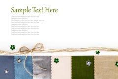 Textiel banner stock afbeeldingen