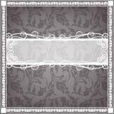 Textiel frame in uitstekende stijl Stock Afbeelding