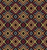Textiel geometrisch naadloos patroon Aziatische vectorenachtergrond stock illustratie