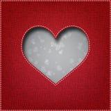 Textiel hart Royalty-vrije Stock Fotografie