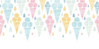 Textiel kleurrijke horizontaal van roomijskegels royalty-vrije illustratie