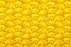 Textiel met ornament in vorm van heuvels Royalty-vrije Stock Afbeeldingen
