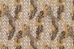 Textiel met patronen van luipaard en vlechten Royalty-vrije Stock Fotografie