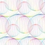 Textiel naadloos patroon van ballen met de punten van textuurmilticolor stock illustratie